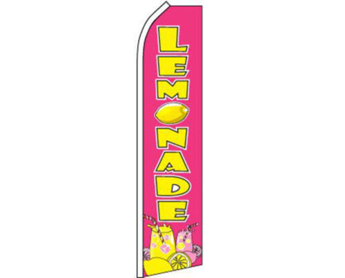 Lemonade Pink Yellow Swooper Super Feather Advertising Flag
