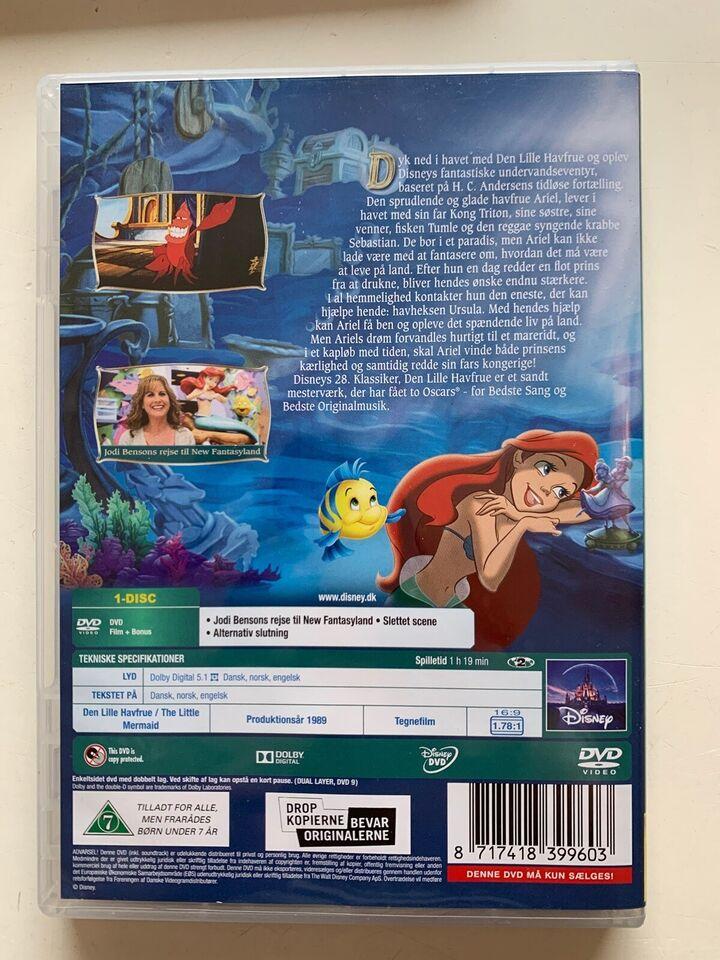 Den lille havfrue, DVD, tegnefilm