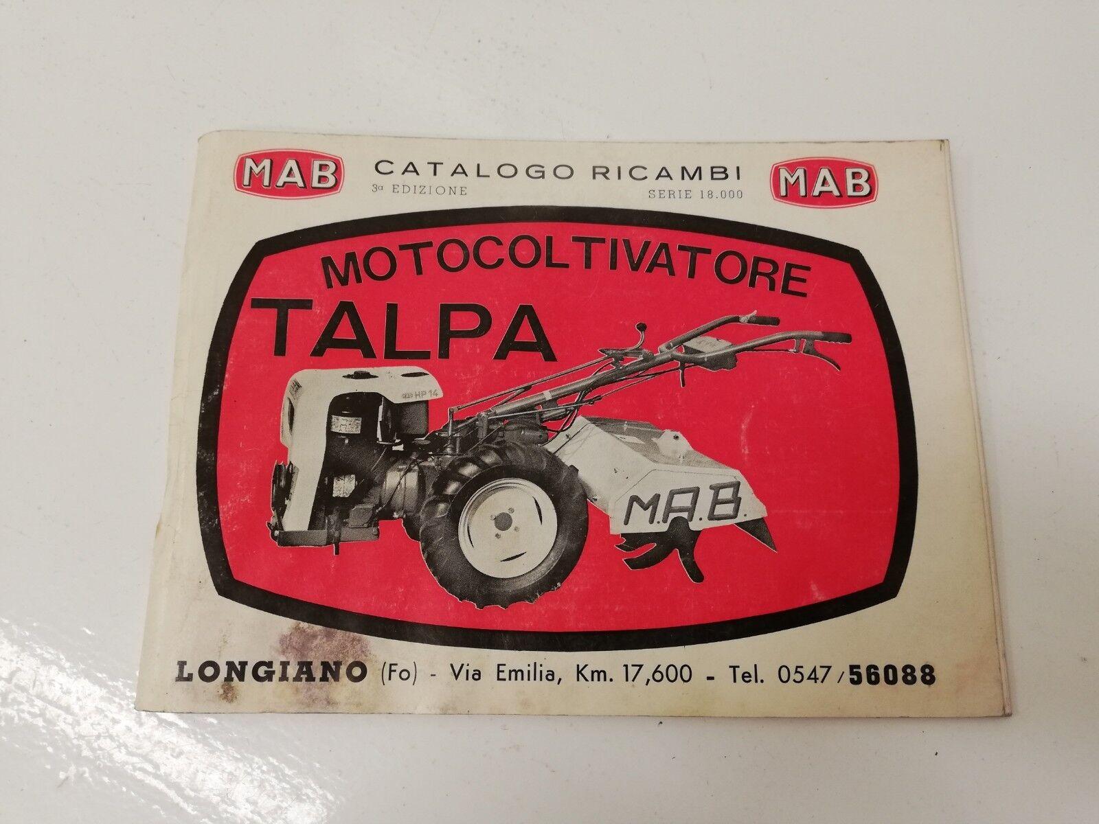 Manuale manual libretto uso manutenzione ricambi parts MAB TALPA 3° ed.