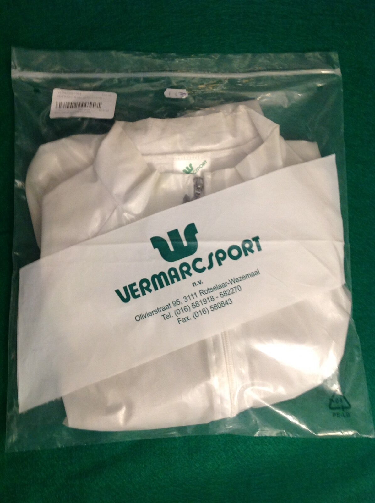 NEW Authentic Vermarc Sport Clear Waterproof Cycling Rain Vest