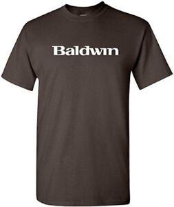 BALDWIN-T-shirt-PIANO-MUSIC-Keyboard-Shirt-80s-Pop-TEE