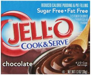 Jell-O Cook and Serve Pudding and Pie Filling, Sugar-Free ...