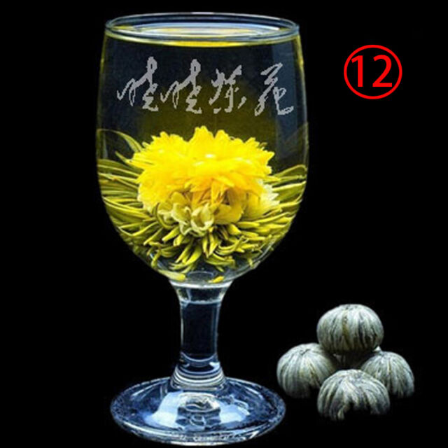 Wholesale New Designed Beautiful Different Handmade Blooming Flower Green Tea