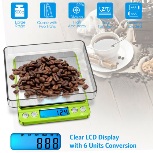 0.01g-500gram Digital/_LCD Electronic Balance Jewelry Food Weight Precision Scale