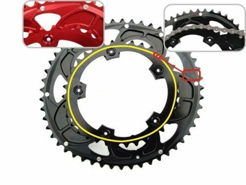 35T 50T 9-11 speed 110 BCD Double  Oval Chainring Aluminium Alloy Bike Chain Ring  factory outlet store