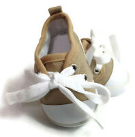 Tan Canvas Sneakers Tennis Shoes Made For 18 American Girl Doll Clothes