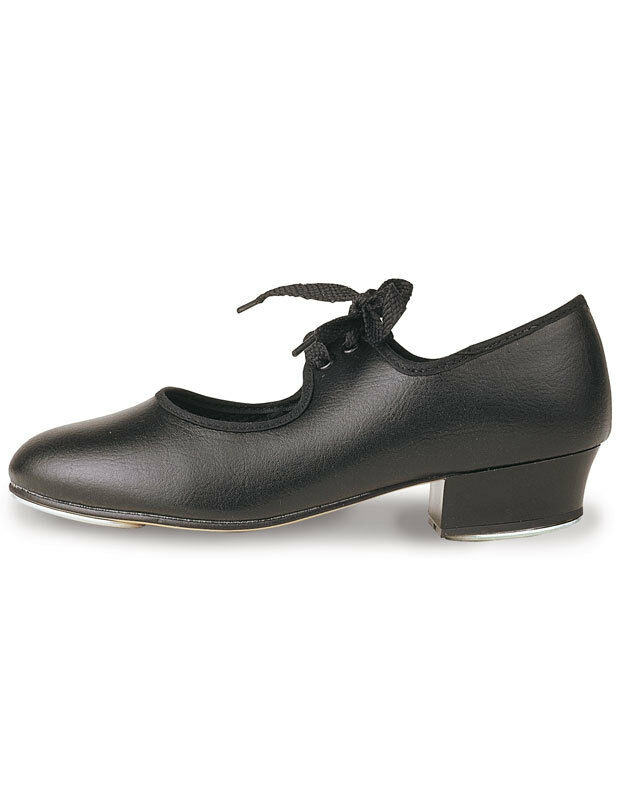 ROCH VALLEY LHP LEATHER TAP SHOES BLACK WITH FITTED HEEL TAPS LOW