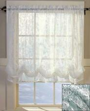 New Lace Window Curtain Balloon Shade WHITE 60 x 61