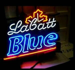 "New Labatt Blue Neon Light Sign 17""x14"" Beer Lamp Bar Artwork Glass Decor"
