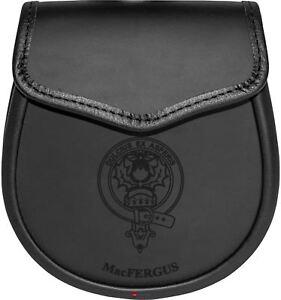 Adroit Macfergus Cuir Day Sporran écossais Clan Crest-afficher Le Titre D'origine à Tout Prix