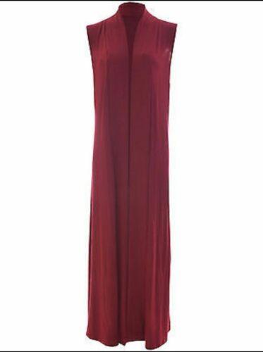 Women Ladies Sleeveless Long Waistcoat Open Boyfriend Maxi Summer Cardigan
