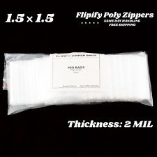 15x15 Clear 2 Mil Small Plastic Bags Baggies Jewelry Mini Zip Reclosable Bag