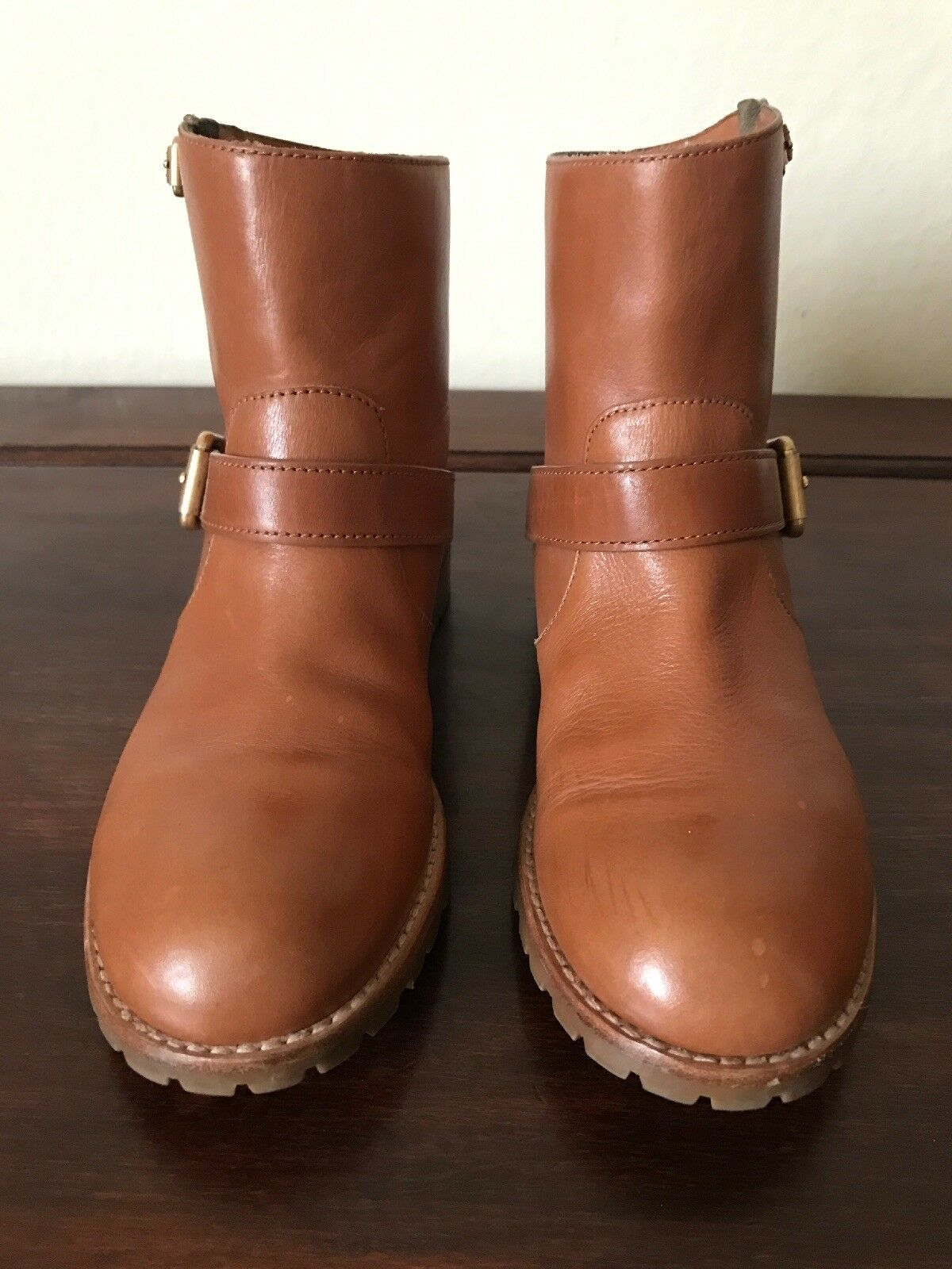 Beautiful Marc By Marc Jacobs Brown Chestnut Chestnut Chestnut Leather Ankle Boots Size 37 U.S. 7 ef41f3