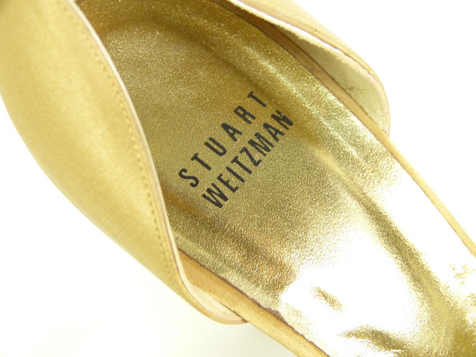 STUART WEITZMAN PUMPS GR 38,5 / BRAUN  MIT STEINCHEN & ELEGANT  BRAUN    ( L 9029 ) 555532