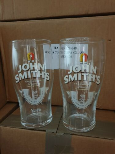 X4 Limited Edition John Smiths ale bitter Smooth Pint Glas Free P/&P