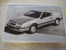 1987 CHRYSLER LEBARON CONVERTIBLE  11 X 17  PHOTO   PICTURE