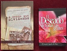 Hispanic SDA Book Duo: A Menos Que Olvidemos ~ El Deseado De Todas Las Gentes