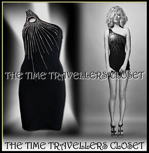 7286d881fd66a Image is loading Kate-Moss-Topshop-Black-One-Shoulder-Keyhole-Bodycon-