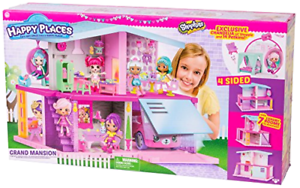 Shopkins House Playset Happy Places Mansion Lil Shoppie Figure Girls Toy Gift