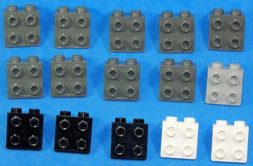 Lego 15x Konverter/ Winkel Platte 2x2 1x2 schwarz 44728. weiß neu-grau