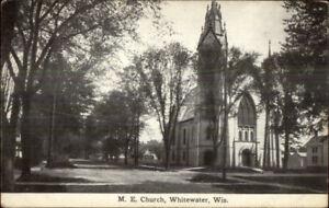 Whitewater-WI-ME-Church-c1910-Postcard
