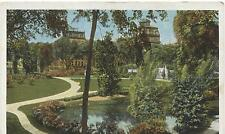 (5501) old postcard SARAGOTA Springs New York Grand Union Hotel from City-Park