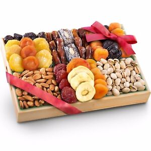 Holiday Assorted Fruit & Nut Basket Christmas Gift Healthy ...