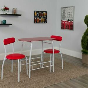 Brilliant Details About 3 Piece Mid Century Modern Retro Dining Table Chair Set Dining Room Space Saver Caraccident5 Cool Chair Designs And Ideas Caraccident5Info