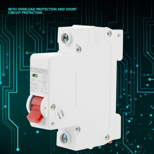 10//16//20//32//40//63A DC Miniature Circuit Breaker 1P 1 Pole Protection Air Switch