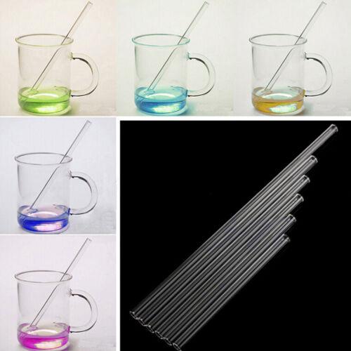 Hot 10mm Pyrex Glass Drinking Straw Wedding Birthday Party Diameter NICA