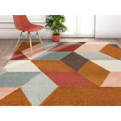 George Oliver Camren Abstract Geometric Shapes Brown/Gray Area Rug