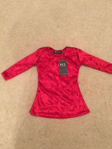 6-12 12-18 Months Baby Girls Red Velvet Bow Diamonte Dress 3-6