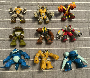 "Lot of 9 Gormiti Giochi Preziosi 2"" Action Figures Monsters"