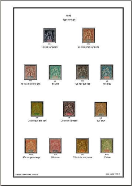 Actif Album Timbres Inde 1892-1954 à Imprimer