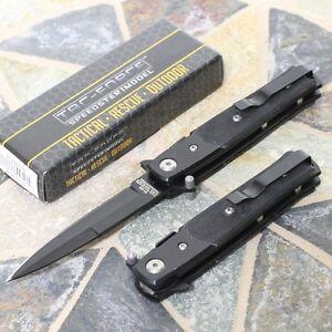 Tac Force Speedster Folding Pocket Knife Black Tactical Rescue Stiletto Hunting Ebay