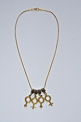 Fashion Jewelry Humble Gold Hotwife 'mfmf' Male Female Male Threesome Euro Necklace Fetish Symbols Distinctive For Its Traditional Properties