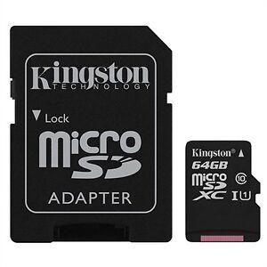 Memoria Kingston Sdcs/64gb 64GB Microsdxc Canvas Select Adap