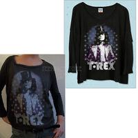 Junk Food T. Rex Marc Bolan Long Sleeve Light Weight Soft Jersey Crop T-shirt
