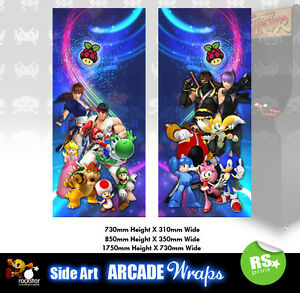 Retropie v2 Arcade Side Art Panel Stickers Graphics / Laminated All Sizes
