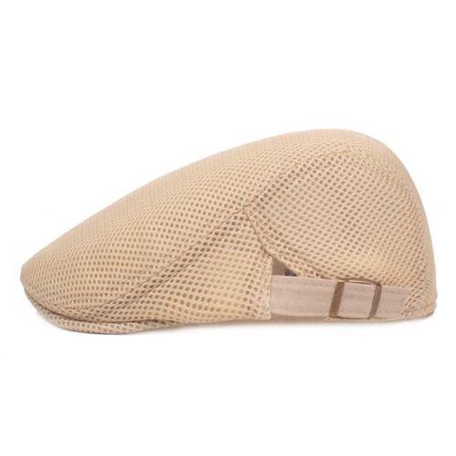 Multi Color Mesh Breathable Summer Cap Adjustable Beret Flat Hat For Men one