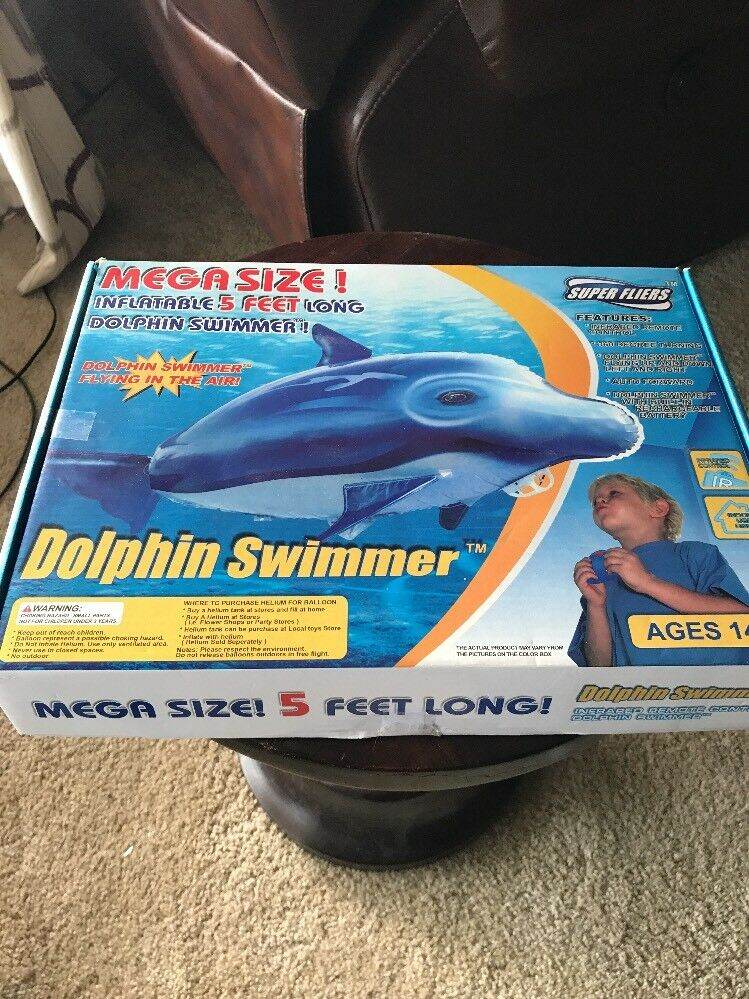 Super Fliers Dolphin Swimmer RC/InfraROT Controlled Giant Inflatable Mylar 5 Ft