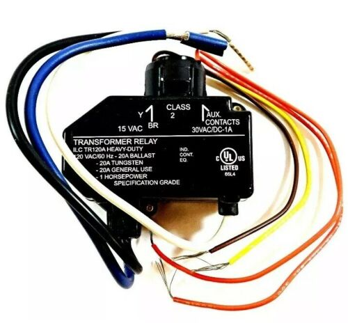 ILC TR-120A Heavy Duty Transformer Relay 120V with Isolated Auxiliary Contacts
