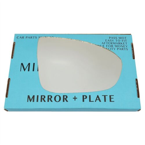 For Vauxhall Meriva B 10-16 Right Driver side wing door mirror glass with plate
