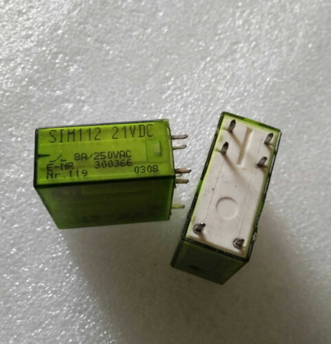 SIM112 21VDC General Purpose Relay 8A 21VDC 250VAC 6 Pins x 1PC