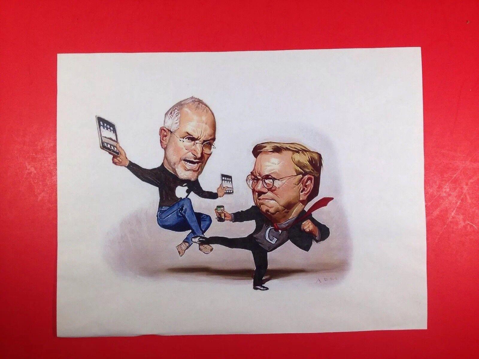 Steve Jobs fights Bill Gates Print. ApÃle vs Microsoft. Daniel Adel, NY Times
