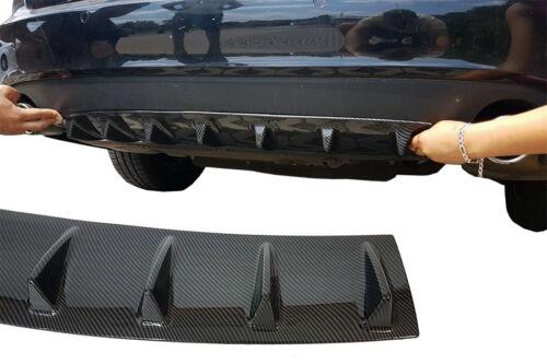CARBON lack Diffusor für Hyundai i20 Heck klappe apron Stoßstange Heckschürze