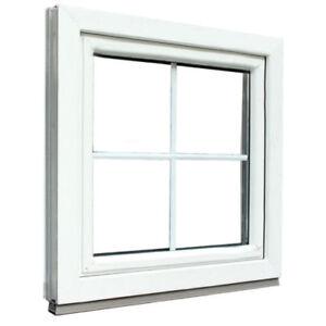 Häufig Kunststofffenster Weiß mit Sprossen 18 mm 4 Glas Feldern 2fach ME27