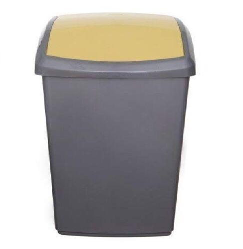 50 L Litres Corbeille recyclage Tri Poubelle Swing Haut Couvercle Bin Lot de 3 ou chaque