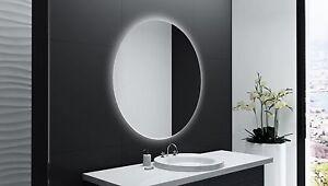 Spiegel mit beleuchtung rund  Badspiegel Rund m LED Beleuchtung Badezimmerspiegel Bad Spiegel ...