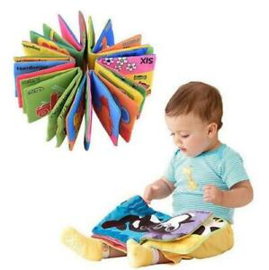 For-Kid-Baby-Intelligence-development-Cloth-Bed-Cognize-Book-Educational-Toy-HOT
